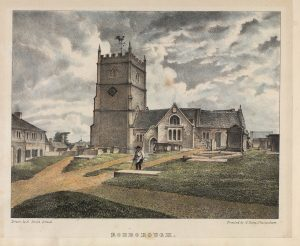 "Taken from ""Twenty Lithographic Views of Ecclesiastical Edifices in the Borough of Stroud"", by Alfred Smith, printed in 1838."